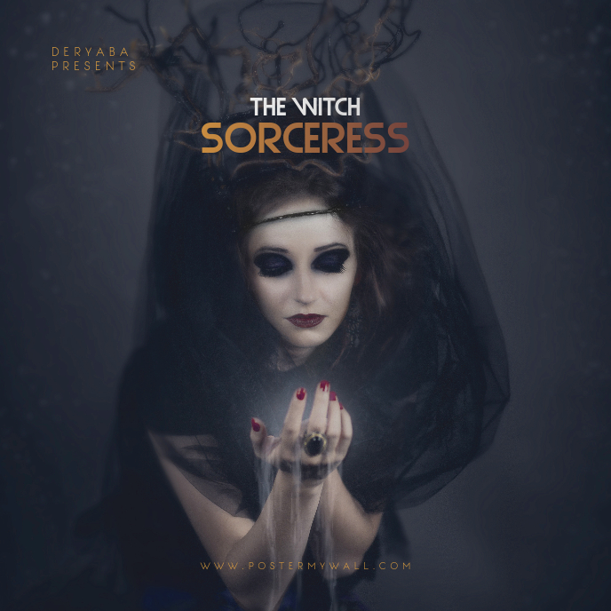 The Witch Sorceress CD Cover Art Template
