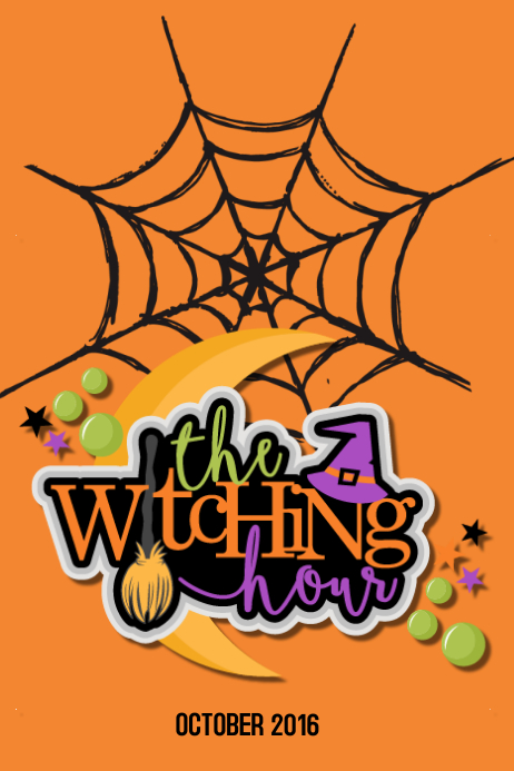 The witching hour Cartaz template