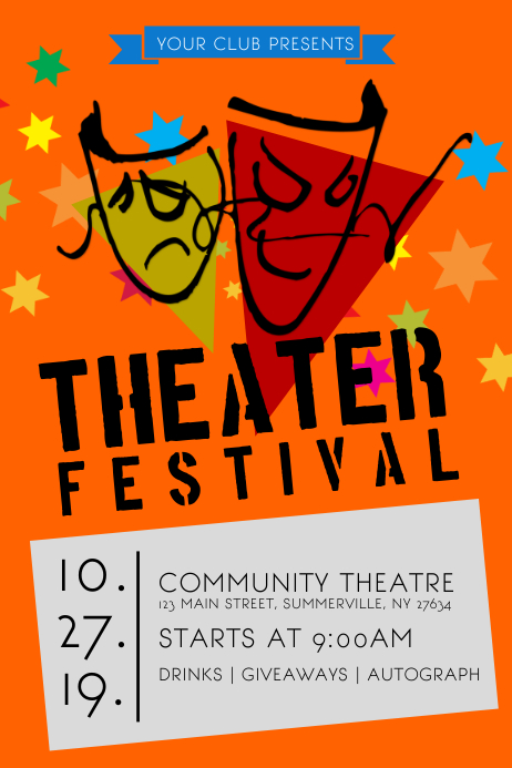 Theater Festival Poster Template