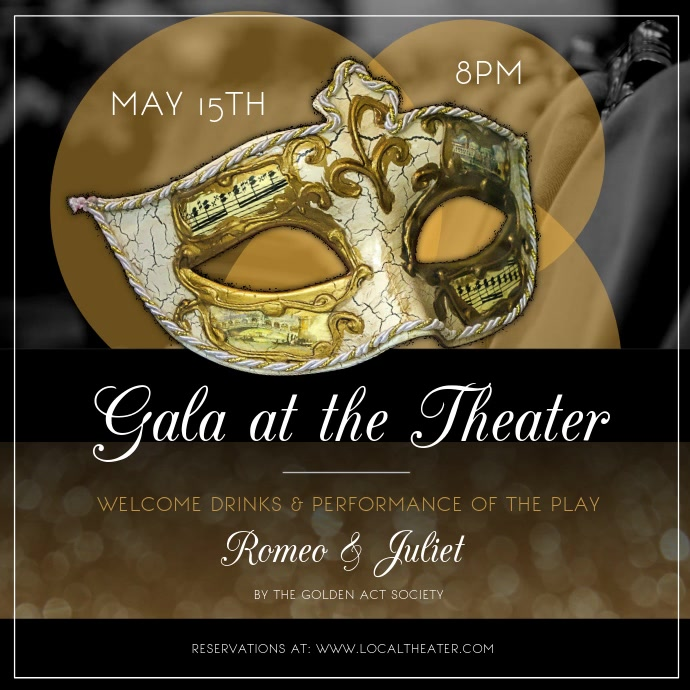 Theater Gala Event Square Video