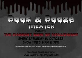 Theater Halloween Spooky Mystery Thriller Postcard template