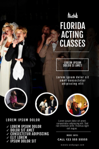 Theatre Acting classes flyer design template