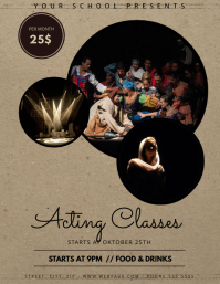 Theatre Acting Classes flyer template