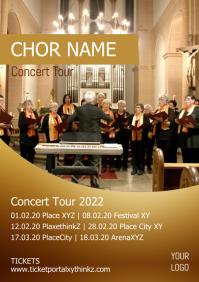 Theatre Concert Musical Gospel Flyer Poster A4 template