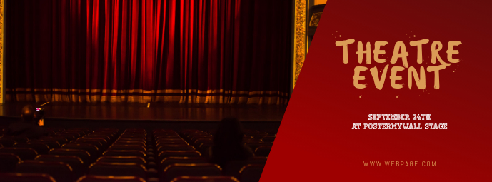 Theatre Event Facebook Cover Template