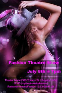 Theatre Fashion Show Flyer