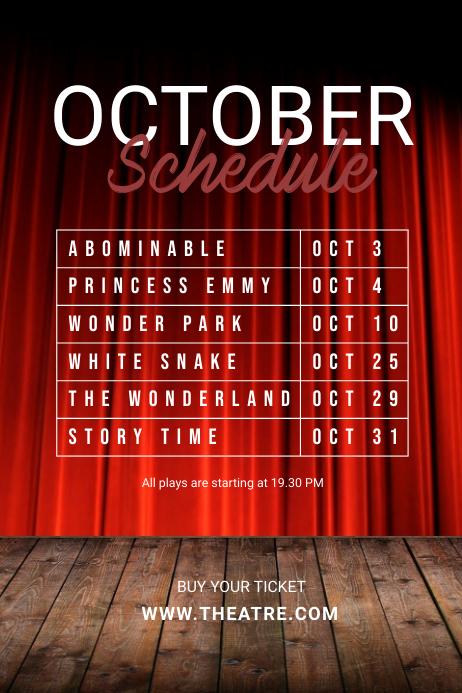 Theatre Schedule template โปสเตอร์