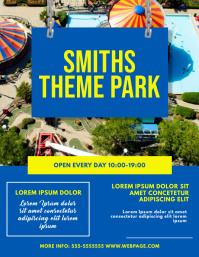Theme Park Flyer Design Template