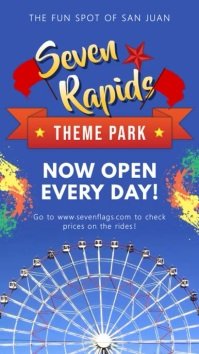 Theme Park Grand Opening Digital Signage