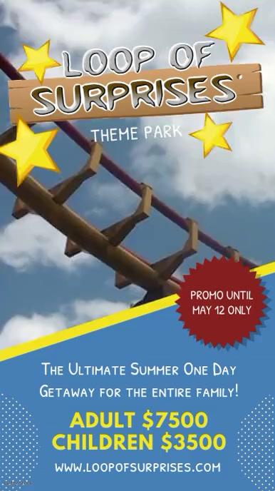theme park new ride advert template