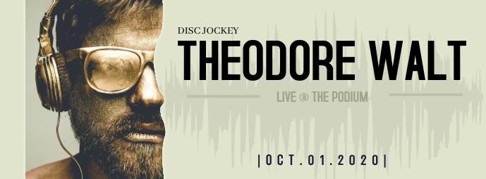 THEODORE WALT DJ Facebook Cover Photo Facebook-omslagfoto template