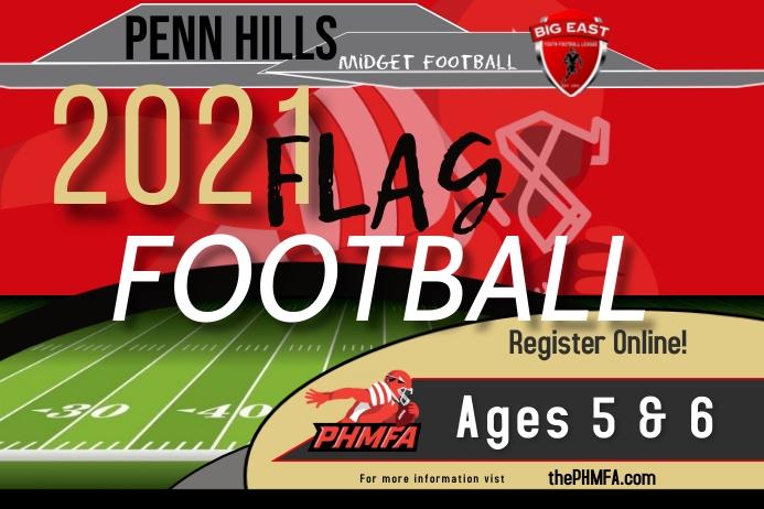 ThePHMFA flag football sign up flyer Etiket template