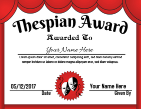 Thespian Award