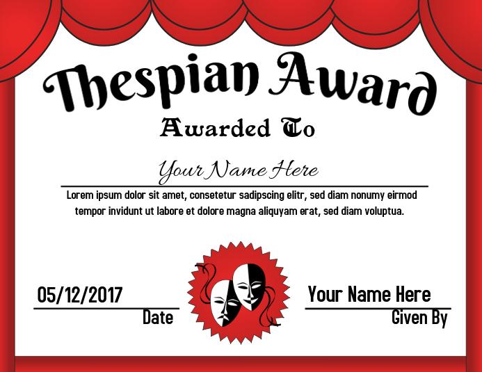 Thespian Award
