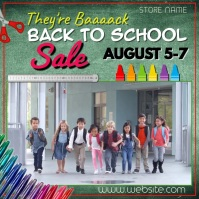 They're Baaack - Back to School Sale Video