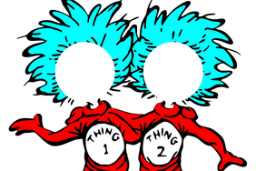 Thing 1 & 2 Party Prop Frame