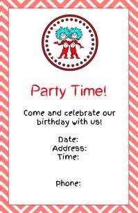Thing 1 And 2 Invitation BIRTHDAY