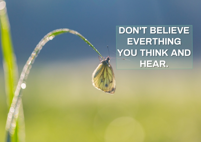 THINK AND HEAR QUOTE TEMPLATE A5