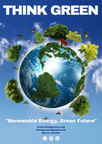 Think Green Campaign Poster