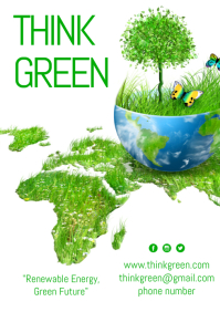 Think Green Poster Template