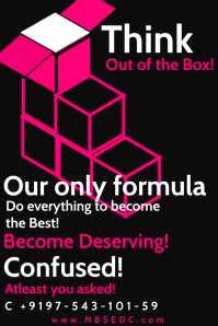 Think out of the Box Poster Template