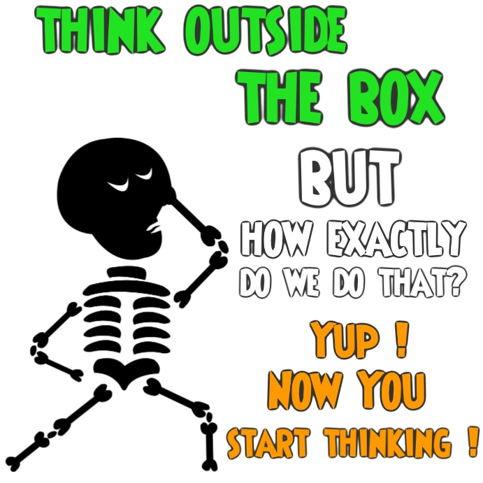 Think outside the box Pos Instagram template