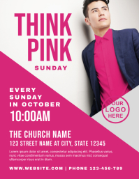 Think Pink Sunday Church Event Flyer