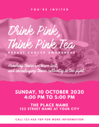 Think Pink Tea Event Flyer