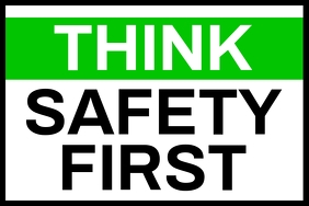 Think Safety First Sign Board Template