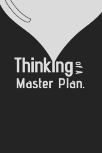 Thinking of a master Plan poster โปสเตอร์ template