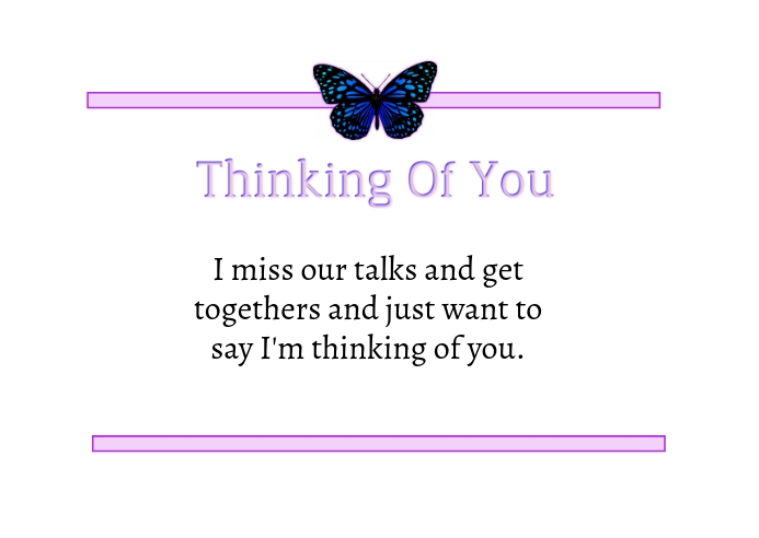 Thinking Of You Postcard Postal template