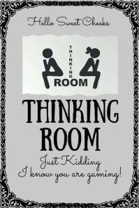 Thinking Room Bathroom Sign