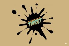 thirst logo Этикетка template