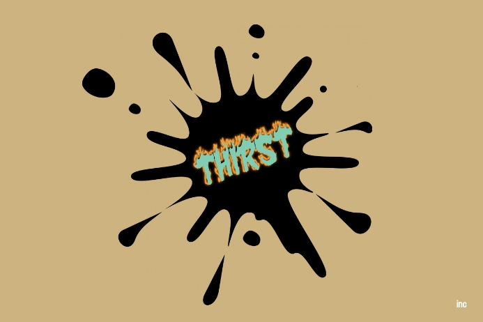 thirst logo Label template
