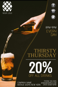 Thirsty Thursday Flyer Template