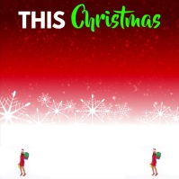 This Christmas Save Up To 50% Quadrato (1:1) template