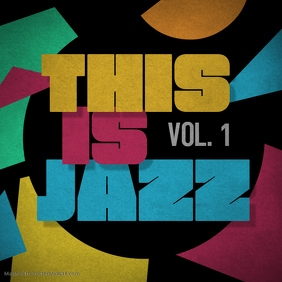 This is Jazz music cd album cover rock template