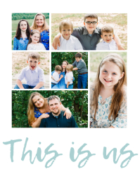 This is us Family Collage Flyer (US Letter) template