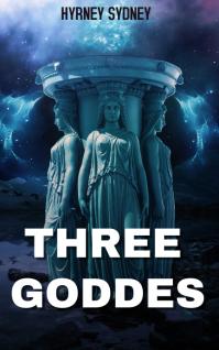 three goddesses eternal blue light Cover ng Libro template