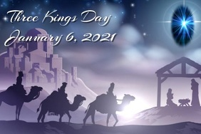 Three Kings Event Póster template
