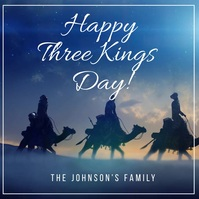 Three Kings Greeting Card Video Wpis na Instagrama template