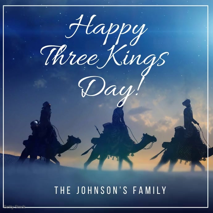 Three Kings Greeting Card Video template
