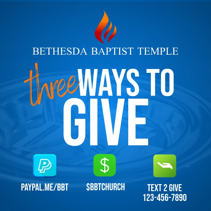Three Ways To Give