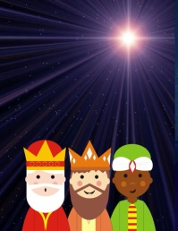 Three wise men Christmas video card poster