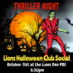 Thriller night halloween flyer