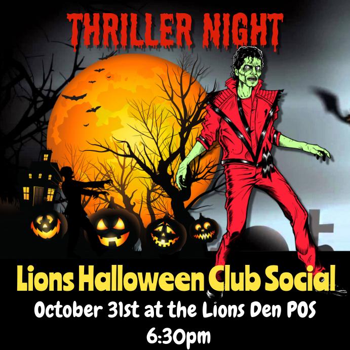 Thriller night halloween flyer