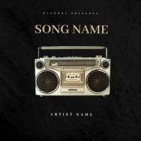 Old Radio mixtape cover design template
