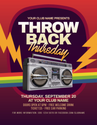 Throwback Thursday Party Flyer template