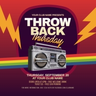 Throwback Thursday Party Instagram Post template