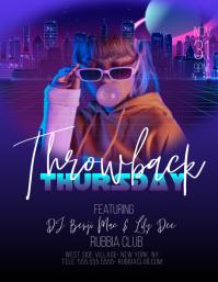 Throwback Thursday Upscale Club Bar Flyer template